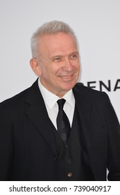 CANNES, FRANCE. May 25, 2017: Jean Paul Gaultier at the 24th amfAR Gala Cannes at the Hotel du Cap-Eden-Roc, Antibes