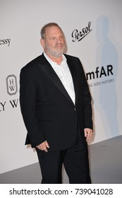 CANNES, FRANCE. May 25, 2017: Harvey Weinstein at the 24th amfAR Gala Cannes at the Hotel du Cap-Eden-Roc, Antibes