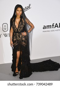 CANNES, FRANCE. May 25, 2017: Nicky Minaj at the 24th amfAR Gala Cannes at the Hotel du Cap-Eden-Roc, Antibes