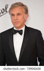 CANNES, FRANCE. May 25, 2017: Christoph Waltz at the 24th amfAR Gala Cannes at the Hotel du Cap-Eden-Roc, Antibes