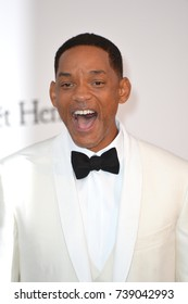 CANNES, FRANCE. May 25, 2017: Will Smith at the 24th amfAR Gala Cannes at the Hotel du Cap-Eden-Roc, Antibes