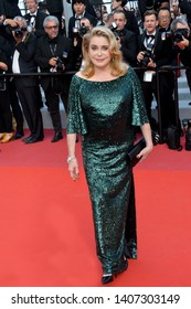 CANNES, FRANCE. May 25, 2019: Catherine Deneuve at the Closing Gala premiere of the 72nd Festival de Cannes.