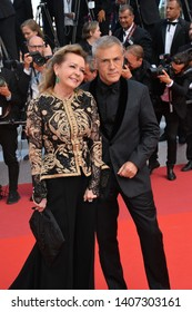 CANNES, FRANCE. May 25, 2019: Christoph Waltz & Caroline Scheufele at the Closing Gala premiere of the 72nd Festival de Cannes.Picture: Paul Smith / Featureflash