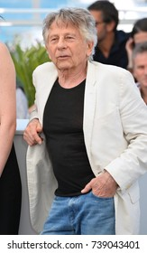"""CANNES, FRANCE. May 27, 2017: Roman Polanski at the photocall for """"Based on a True Story"""" at the 70th Festival de Cannes"""