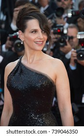 CANNES, FRANCE. May 28, 2017: Juliette Binoche at the Closing Gala for the 70th Festival de Cannes