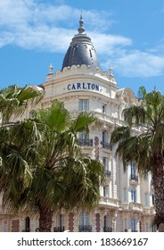 CANNES, FRANCE - MAY 6: Luxury hotel Inter Continental Carlton on May 6, 2013 in Cannes, France. It features 343 rooms. Located on the famous La Croisette.