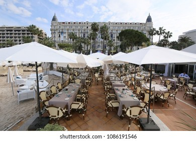 CANNES, FRANCE - MAY 8: A general view of hotel Carlton during the 71th Annual Cannes Film Festival on May 8, 2018 in Cannes, France