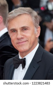 Cannes, France, May 9, 2018, Christoph Waltz attends the screening of 'Yomeddine' during the 71st annual Cannes Film Festival at Palais des Festivals.