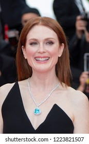Cannes, France, May 9, 2018, Julianne Moore attends the screening of 'Yomeddine' during the 71st annual Cannes Film Festival at Palais des Festivals.