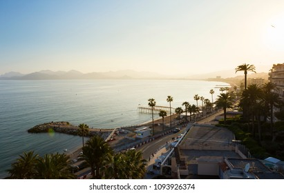 Cannes France sunset