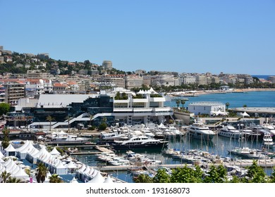 CANNES, FRANCE-MAY 14: Palais des Festivals shown on May 14, 2014 in Cannes, France.The International Film Festival takes place at present in this building, the actors live in the hotels on Croisette.