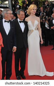 Cannes Jury president Steven Spielberg & jury members Nicole Kidman & Ang Lee at the closing awards gala of the 66th Festival de Cannes. May 26, 2013  Cannes, France