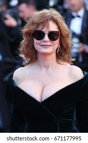 CANNES - MAY 17, 2017: Actress Susan Sarandon attends the Ismael's Ghosts screening and Opening Gala during the 70th annual Cannes Film Festival at Palais des Festivals