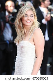 CANNES - MAY 17, 2017: Louane Emera attends the Ismael's Ghosts screening and Opening Gala during the 70th annual Cannes Film Festival at Palais des Festivals