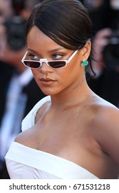 CANNES - MAY 19, 2017: Rihanna attends the Okja screening  during the 70th annual Cannes Film Festival at Palais des Festivals in Cannes