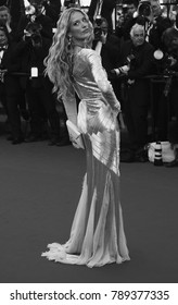 CANNES - MAY 21, 2013: ( Image digitally altered to monochrome ) Petra Nemcova attends the Behind the Candelabra Premiere - The 66th Cannes Film Festival at the Palais des Festivals