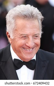 CANNES - MAY 21, 2017: Dustin Hoffman attends The Meyerowitz Stories screening during the 70th annual Cannes Film Festival at Palais des Festivals in Cannes