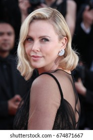 CANNES - MAY 23, 2017: Charlize Theron attends the 70th anniversary event during the 70th annual Cannes Film Festival at Palais des Festivals in Cannes