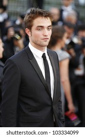 CANNES - MAY 23: Robert Pattinson at the premiere screening of 'On the Road' presented in competition at the 65th Cannes film festival on May 23, 2012 in Cannes
