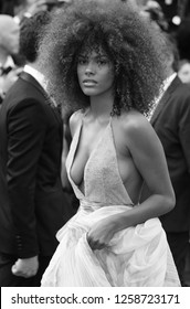 CANNES - MAY 24, 2017: ( Image digitally altered to monochrome )  Tina Kunakey attends The Beguiled screening during the 70th annual Cannes Film Festival at Palais des Festivals