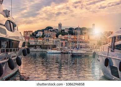 Cannes viewed from the old harbor