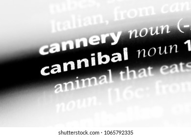 cannibal word in a dictionary. cannibal concept.