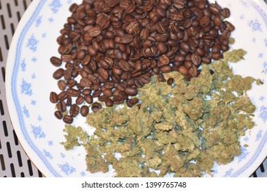 Cannibis Served with Coffee Beans