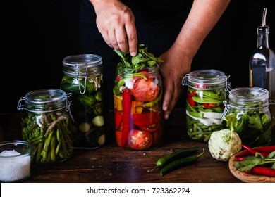 Canning tomatoes pickled Preserving tomatoes herbs for canning pickling rosemary dill pepper garlic add herbs in mason jars