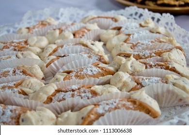 Cannoli with  powdered sugar