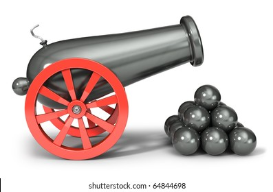 Cannon (3d illustration)