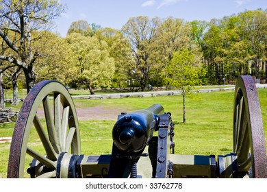 A cannon from the American Civil War in a public park