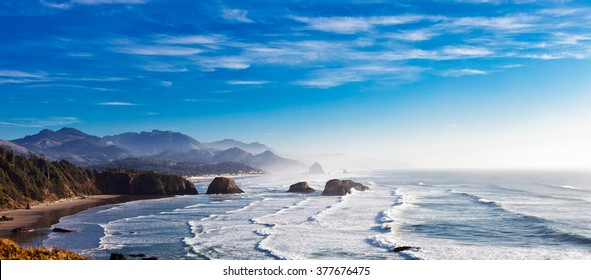 Cannon Beach and Haystack Rock in Northwest Oregon
