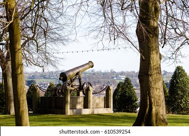 Cannon in Castle Gardens, Lisburn, County Antrim, Northern Ireland