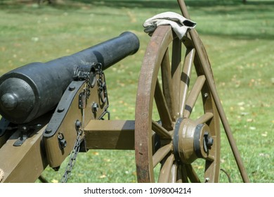 cannon at civil war reenactment - landscape