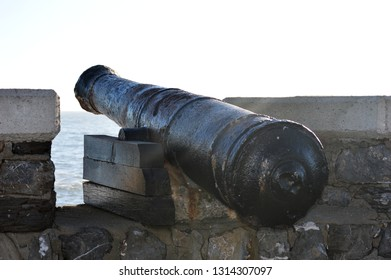 A cannon at Comillas harbor, Cantabria