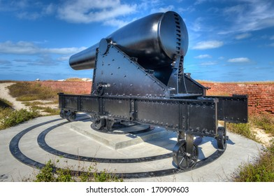 Cannon in Fort Jefferson at the Dry Tortugas National Park, Florida.