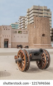 Cannon in front of Sharjah Al Hisn Fort, UAE