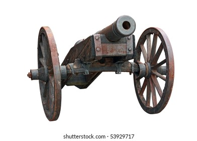 an cannon isolated on white background