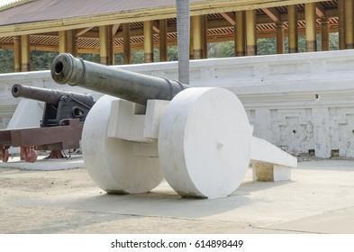 Cannon at The Mandalay Royal Palace, Mandalay, Myanmar