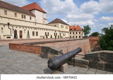 Cannon on the castle Spilberk in Brno