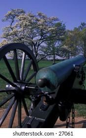Cannon on Manassas (Bull Run) Civil War battlefield