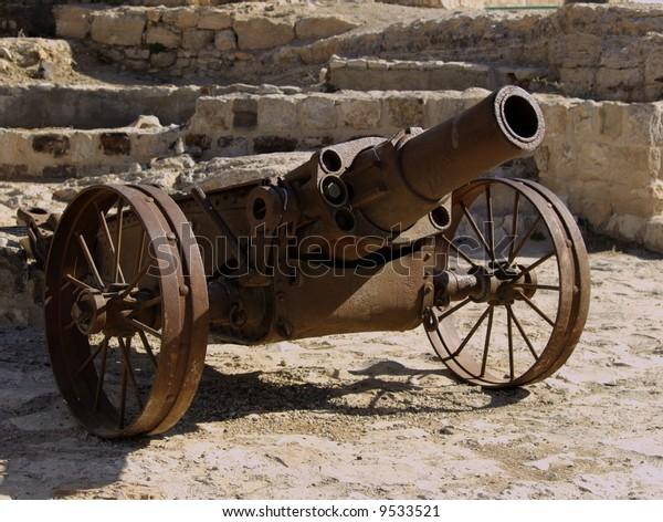Cannon outside Kerak Castle as seen in the film Kingdom of Heaven