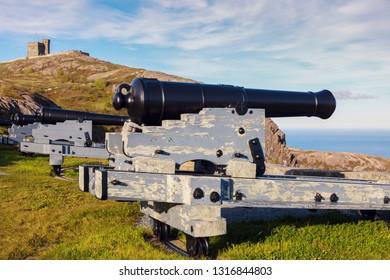 Cannon in St. John's, Newfoundland of St. John's, Newfoundland. St. John's, Newfoundland