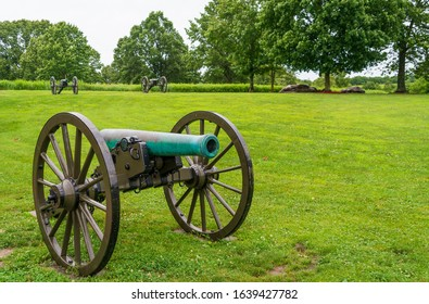 Cannon at Wilson's Creek National Battlefield, in the Ozarks, Missouri