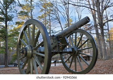 Cannon in the woods