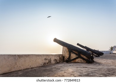 Cannons on Cape Coast Castle, Ghana, West Africa