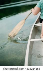 canoe arm paddle water