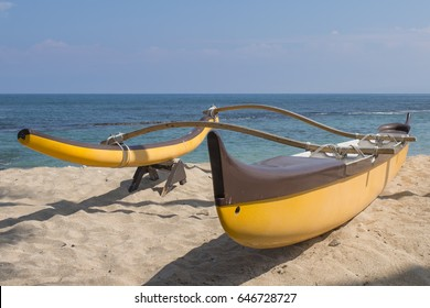 Canoe waiting to be used in Hawaii