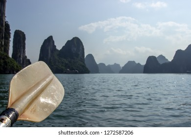 Canoeing in Halong bay Vietnam