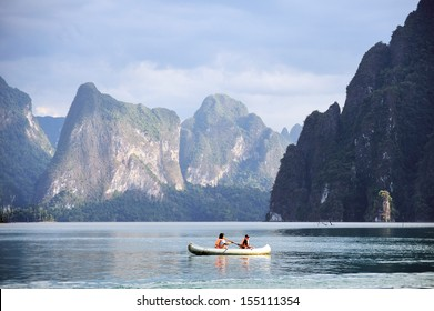 Canoeing at Khao Sok National Park in Surattani, THAILAND